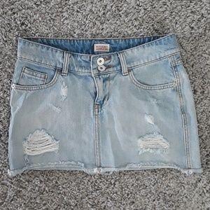 Missimo Distressed Denim Skirt